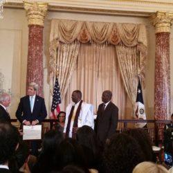 U.S. Secretary of State awards the Hero Prize to Biram Dah Abeid and Brahim Bilal Ramdane